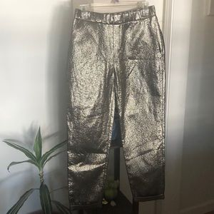 Gold Shiny Zara Pants